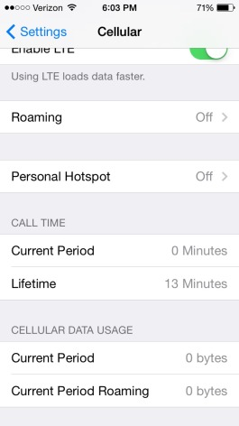 How to reset my lifetime call time on my iPhone - 1
